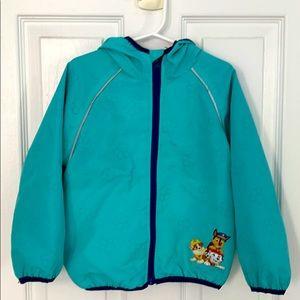 Paw Patrol teal spring coat 4T
